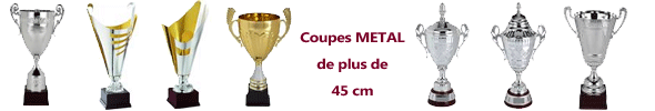 Coupes Metal de plus de 45 cm