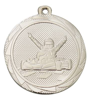 Médaille Karting Argent 45 Mm