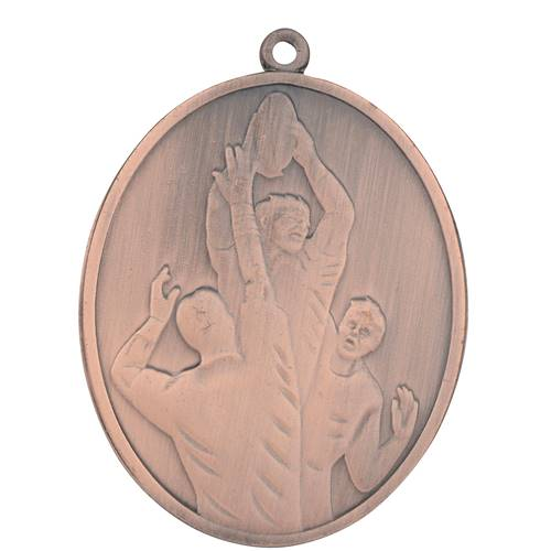 Médaille Rugby Bronze 50 Mm X 40 Mm