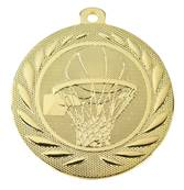 Médaille Basket Or 50 Mm