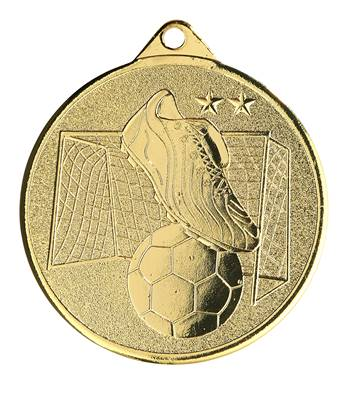 Médaille Foot Or 50 Mm