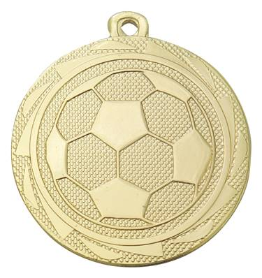 Médaille Ballon Foot Or 45 Mm